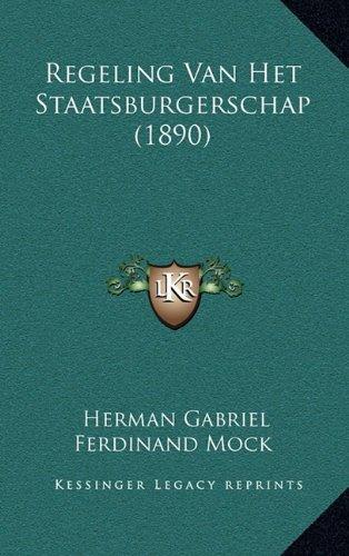 Regeling Van Het Staatsburgerschap (1890)