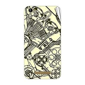 Garmor Designer Mobile Skin Sticker For Intex Aqua Turbo 4G - Mobile Sticker