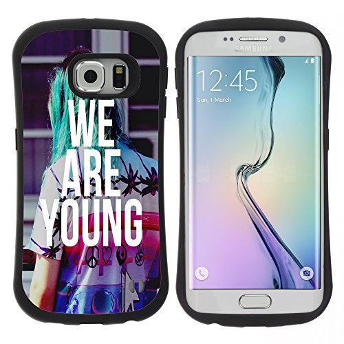 SAMSUNG GALAXY S6 EDGE Robusto Custodia - We Are Young Heartache Song Lyrics