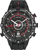 Timex Men's T2N720 Intelligent Quartz Adventure Series Tide Temp Compass Black Silicone Strap Watch