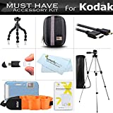 Accessories Bundle Kit For Kodak PlaySport (Zx5) HD Waterproof Pocket Video Camera (2nd Generation) PLAYFULL CAMERA Includes Case + Micro HDMI Cable + Tripod + Flexible Tripod + Float Strap + More