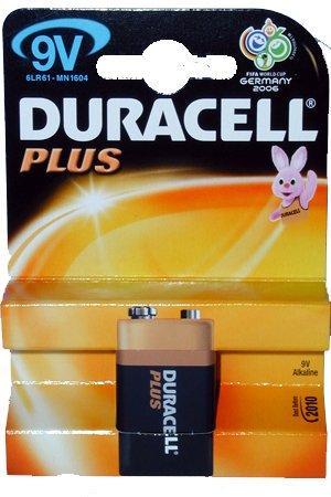 DURACELL PLUS MN1604 K1 Lot de 1 pile 9V Lot de 1 (U-G2504)