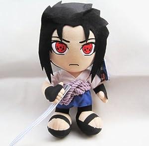 Be World 12'' Japanese Animation Naruto Red Eyes Sasuke Plush Toys Doll