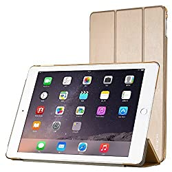 Kapa Leather Smart Case Flip Cover for Ipad Air 2 - Gold