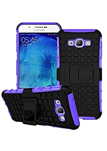 BeeFone Tough Hybrid Armor Back Cover Case with Kickstand for Samsung Galaxy A8-Purple