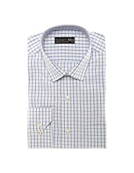 Today's Men Men's Formal Shirt Double Fused Collar ( Blue )