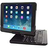 iPad Mini 1 / 2 / 3 360 Rotatable Keyboard Case, SnuggTM - Ultra Slim Keyboard Cover Case with Bluetooth Connectivity For Apple iPad Mini 1 / 2 / 3 Retina (Black)