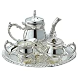 Elegance Silver Mini Coffee 4 pc Set