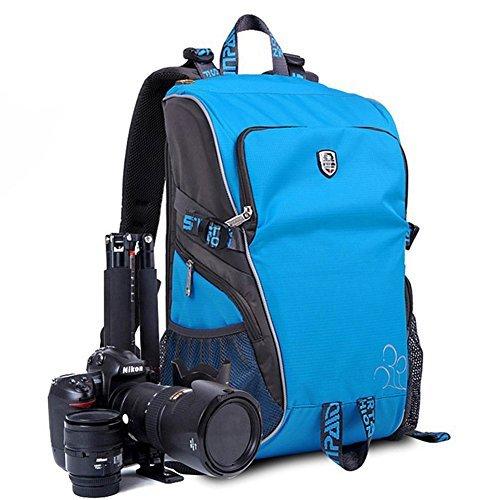 Abonnyc Sports Travel Backpack Camera Backpack Bag Case for Sony Canon Nikon Olympus Dslr SLR Multifunctional Waterproof Shockproof , Blue