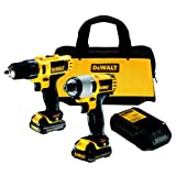 Dewalt DCK211S2 10.8V Subcompact Combo Drill Plus Impact Driver in Kitbag