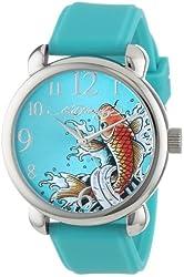 Ed Hardy Women's FO-BL Fountain Blue Quartz Analog Watch