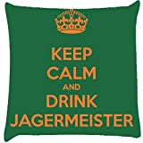 Snoogg Keep Calm And Drink Jagermeister Cushion Cover Throw Pillows 16 X 16 Inch