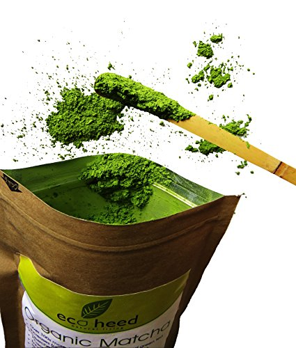 Matcha Green Tea Powder – Pure Certified Organic By eco heed- MADE IN JAPAN. A Superfood For Weight Loss, Fat Burner, Metabolizer, Diet, Latte & Smoothies. Natural Detox Packed With Antioxidants & Energy. Experience The Benefits Of Japanese Matcha Now. (1.05oz)