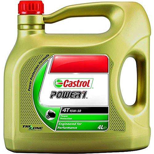 Castrol Motorenöl Power 1 4T 15W-50 / Kanister transparent 4L Motorrad