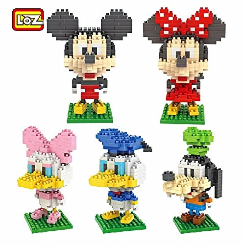 [Building Blocks Classic Vintage Mickey Mouse and Friends Nanoblock Diamond Block Party Supplies Paraphernalia Cartoon Animation Gift with Original] (Donald Duck Costume Makeup)