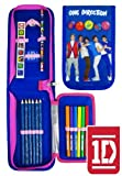 One Direction 1D Official Filled Fold Out Pencil Case Set Stationery