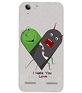 PrintDhaba LOVE ART D-6546 Back Case Cover for LENOVO A6020a46 (Multi-Coloured)