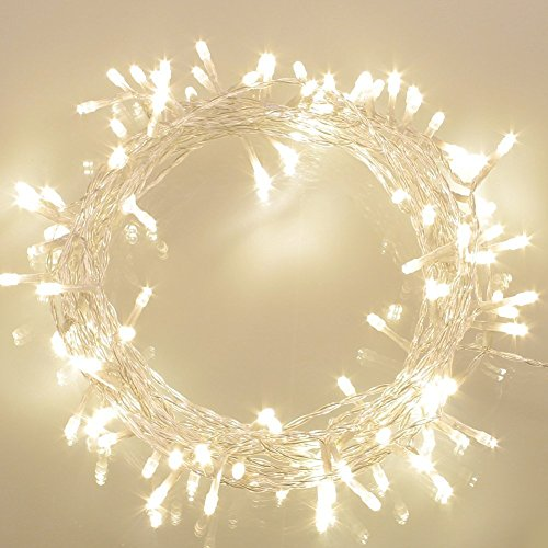 100er-LED-Lichterkette-Batterie-betrieben-WarmWei-Ideal-fr-CHRISTMAS-Festlich-Hochzeiten-Geburtstag-PARTY-NEW-YEAR-Dekoration-HUSER-ETC