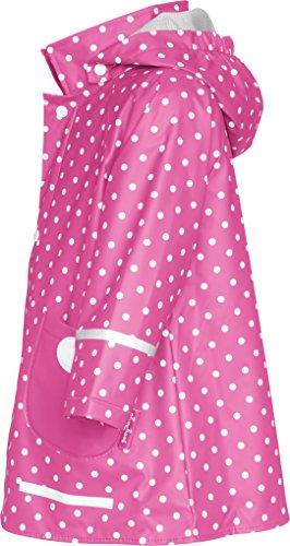 Playshoes Mädchen Regenmantel 408566 Playshoes Kinder Regenmantel, Regenjacke mit Punkten, Pink (Pink ), 86 -