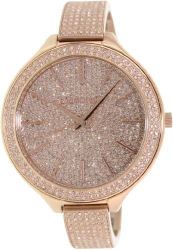 Michael Kors Runway Pink Crystal-Set Dial Pink Gold-Tone Ladies Watch Mk3251