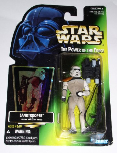 Star Wars The Power of The Force Sandtrooper With Heavy Blaster Rifle