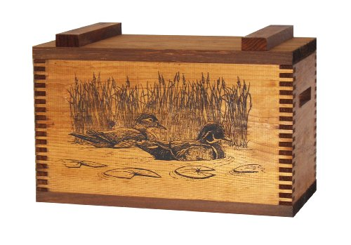 Evans Sports Standard Ammo Box, Wood Ducks