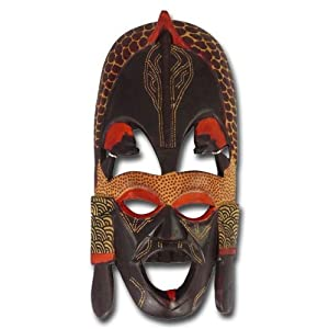"African wooden mask ""Kissing Mask"", large from African Attitude"