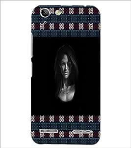 PrintDhaba Girl Face D-5775 Back Case Cover for LENOVO VIBE K5 (Multi-Coloured)