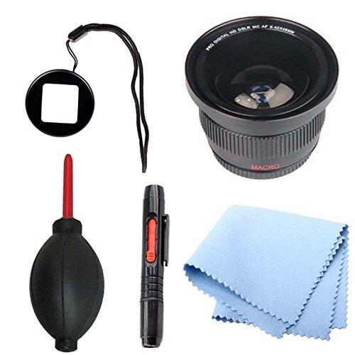 Gopro Lens Adapter With Fisheye Lens Bundle For Hero Hd 1 3 & 3+