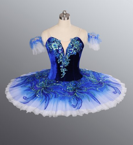 Blue Classical Professional Ballet Tutu for Competition & Performance
