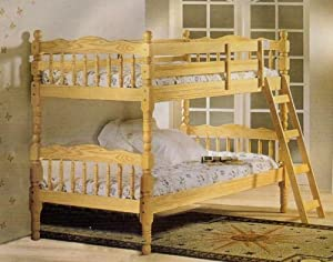 Beautiful All Natural Twin/twin Convertable Bunk Bed from Furniture Outlet's