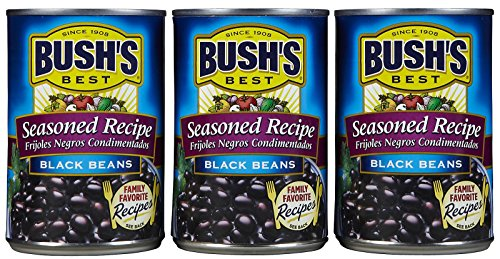 Bush's Best Seasoned Recipe Black Beans 3 pack, 15 ounce cans (Black Beans Can compare prices)