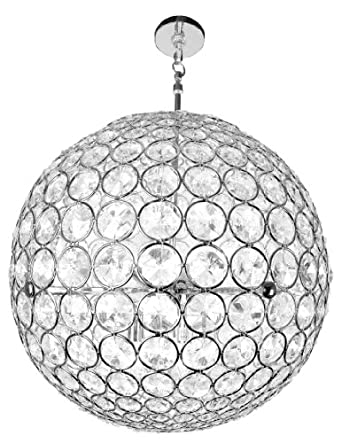 Checkolite 10951 21-Inch Crystal Sphere Chandelier