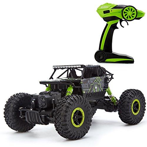 Metakoo RC Voiture Télécommandé 4x4 véhicules tout terrain 4WD Échelle 1:18 2.4 GHz Remote Control Voitures thermique enfant Buggy Car-Vert