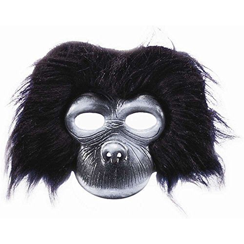 Plush Gorilla Chinless Mask - One Size