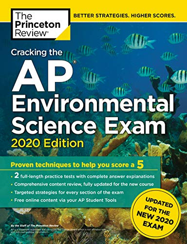Cracking the AP Environmental Science Exam, 2020 Edition Practice Tests & Prep for the NEW 2020 Exam (College Test Preparation) [The Princeton Review] (Tapa Blanda)