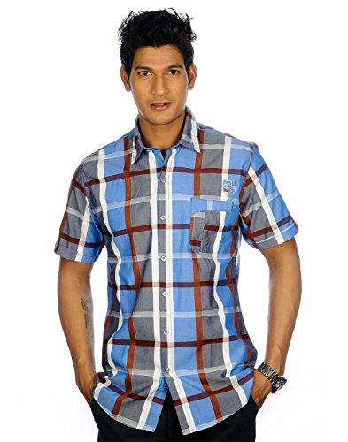 Campus Twills Premium Men's Cotton Checks Shirt Multi (Multicolor)