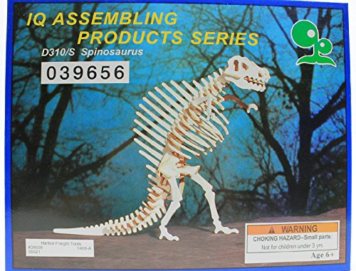 IQ Assembling Products Series Balsa Wood 3D Puzzle Spinosaurus