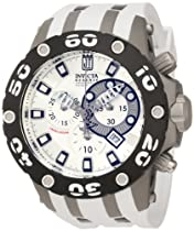 Jason Taylor for Invicta Collection 12947 Chronograph Silver Dial White Polyurethane Watch