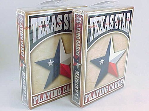 2 Decks Texas Star Flag Bicycle Playing Cards