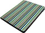 Lente Designs® Midnight stripes fabric Apple iPad 2, 3 or 4 protective case with smart cover auto on/off feature