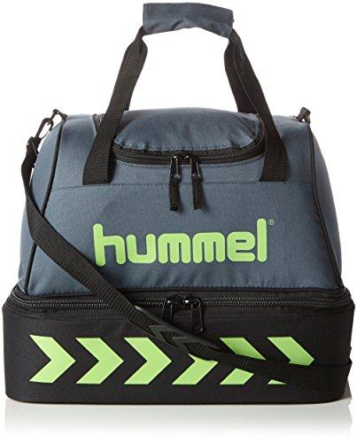 Hummel - Sacca da allenamento da calcio, colore: dark slate/green flash