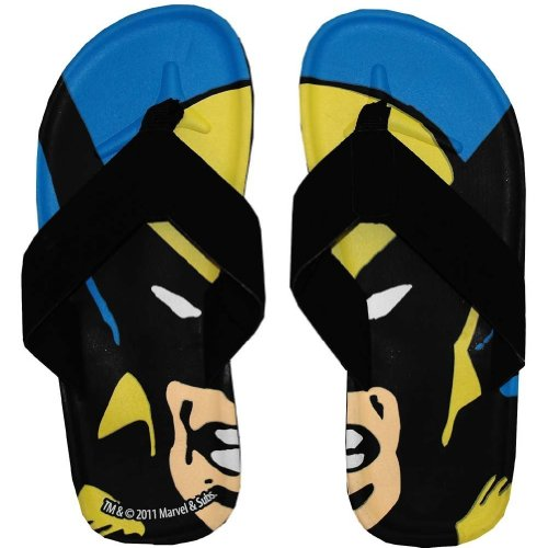 X-Men Wolverine Big Face Men's Flip Flops
