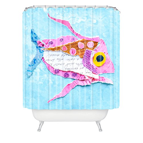 How to create the perfect beach bathroom for Tropical fish shower curtain