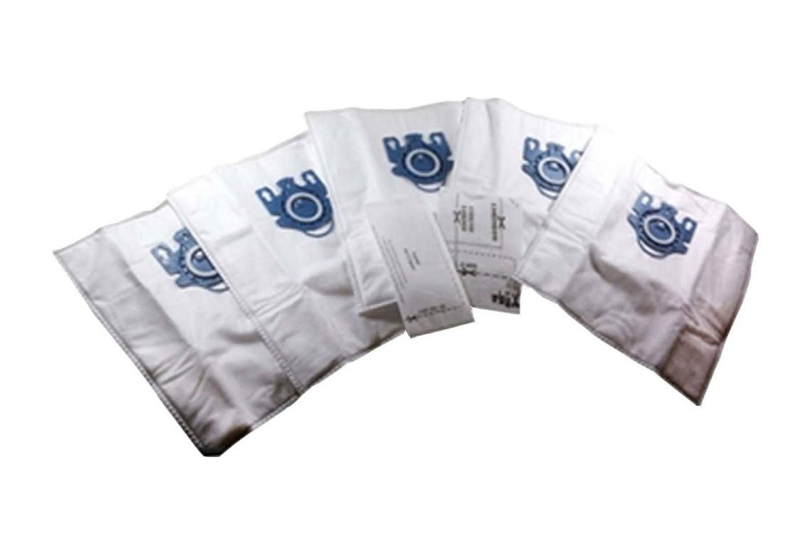 Leadservc Miele FJM Deluxe Cloth Bags Fits Miele Vacuum Style FJM, with 5 Bags and 2 Filters Replacement