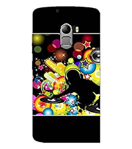 PrintDhaba DJ D-1421 Back Case Cover for LENOVO K4 NOTE A7010a48 (Multi-Coloured)