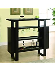 Monarch Bar Unit with Bottle and Glass Storage, 48-Inch, Cappuccino by Monarch