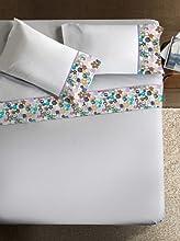 Ipersan Bijoux Armonie Completo con Bordo Fotografico, Cotone, Bianco e Multicolore, Matrimoniale