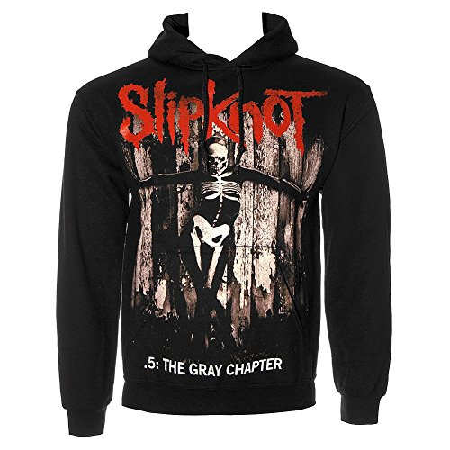 Slipknot Gray Chapter Felpa Con Con Cappuccio (Nero) - Medium