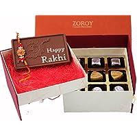 Rakhi Gift - Gift For Bother/ Sister Double Decker Happy Rakhi Box With Assorted Chocolates And Rakhi